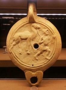 Lucerna con cammelliere e dromedario