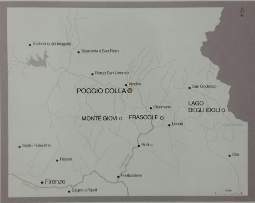 Dove si colloca il santuario etrusco di Poggio Colla