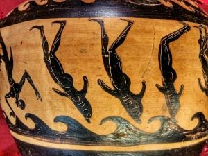 Vaso del pittore di Micali: dettaglio della rappresentazione del mito
