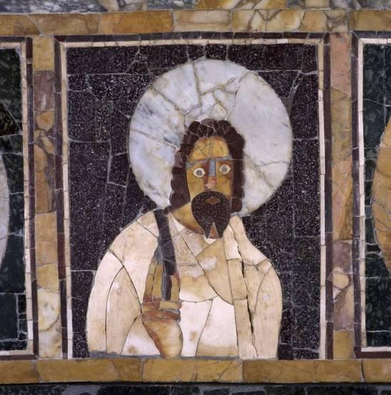Il ritratto di Cristo o di filosofo nell'aula della domus di Porta Marina a Ostia