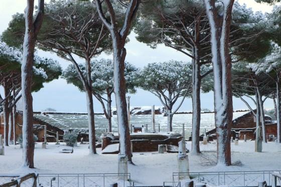 ostia antica neve