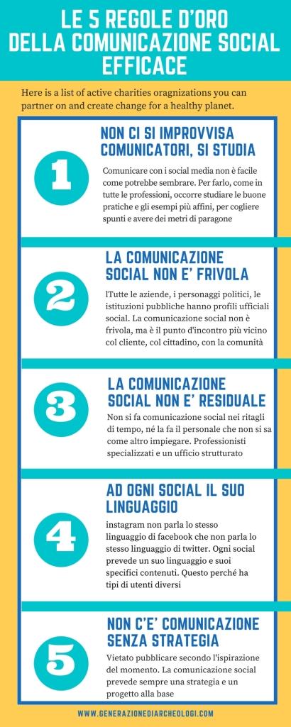 infografica 5 regole d'oro comunicazione efficace